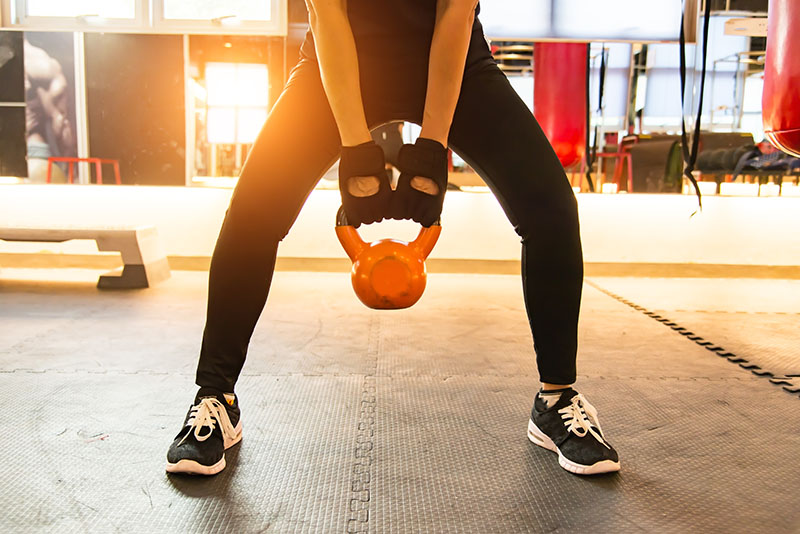 Woman Working Out Glutes